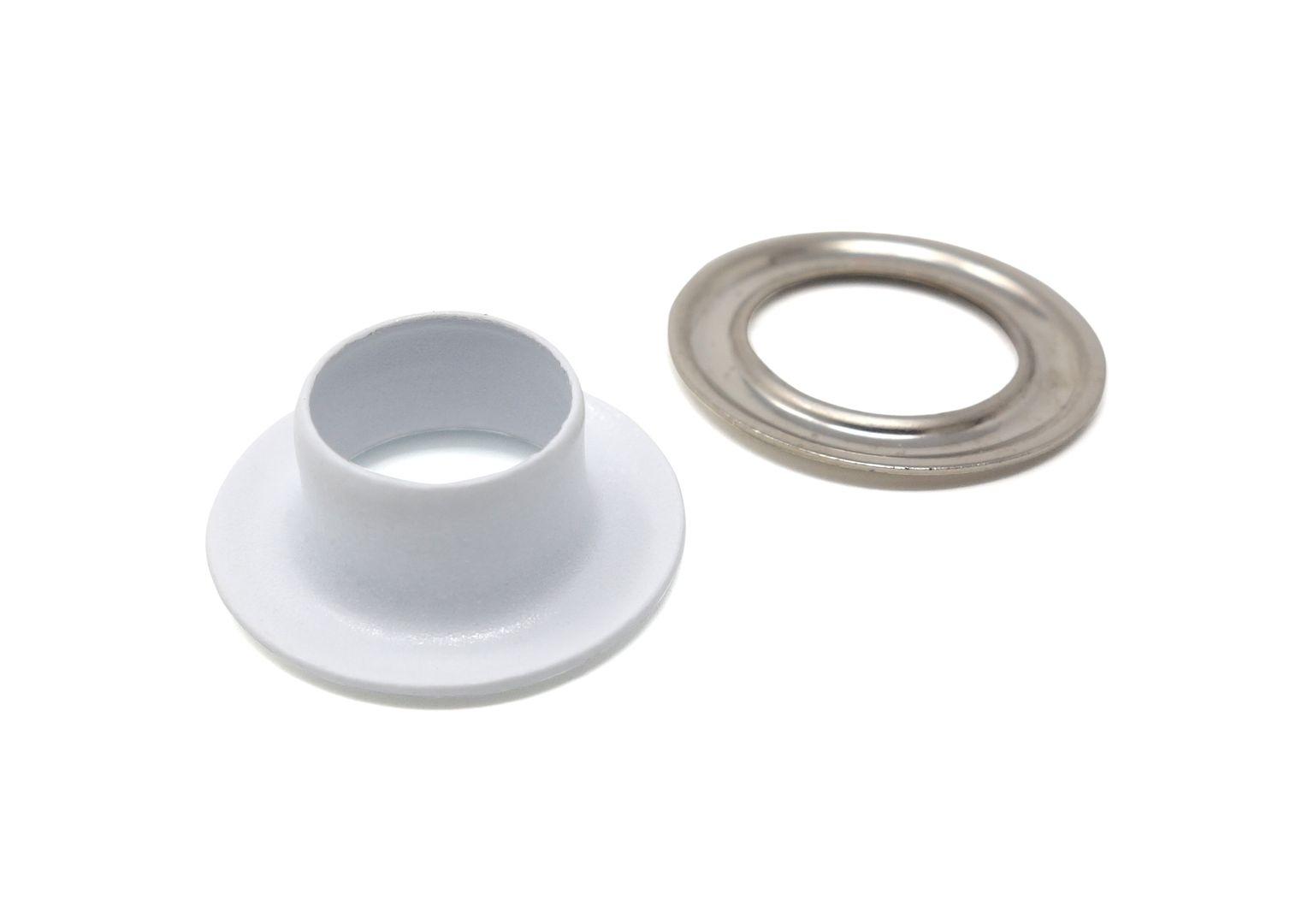 100 x 5,0 mm selbstlochende Ösen mit Scheibe (rostfrei) für Ösenpressen und Einschlagwerkzeuge – Bild 6