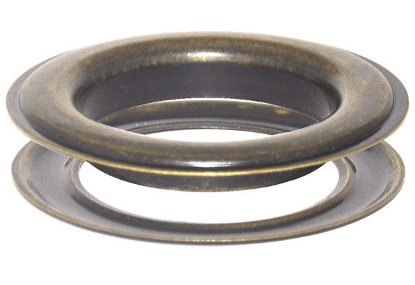 100 x 28,0 mm Ösen mit Scheibe (rostfrei) für Gardinen, Vorhänge, Leder, Planen, Banner, etc. – Bild 4