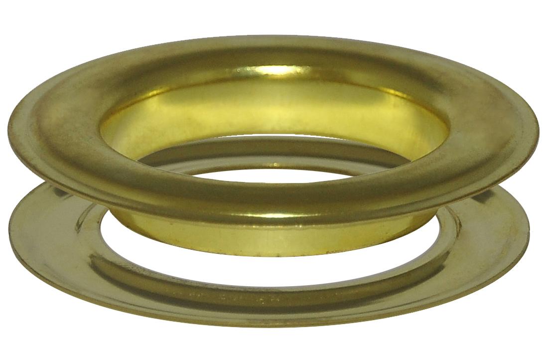 12 x 50,0 mm Ösen mit Scheibe (rostfrei) für Gardinen, Vorhänge, Leder, Planen, Banner, etc. – Bild 1