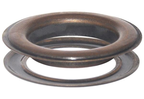 12 x 50,0 mm Ösen mit Scheibe (rostfrei) für Gardinen, Vorhänge, Leder, Planen, Banner, etc. – Bild 4