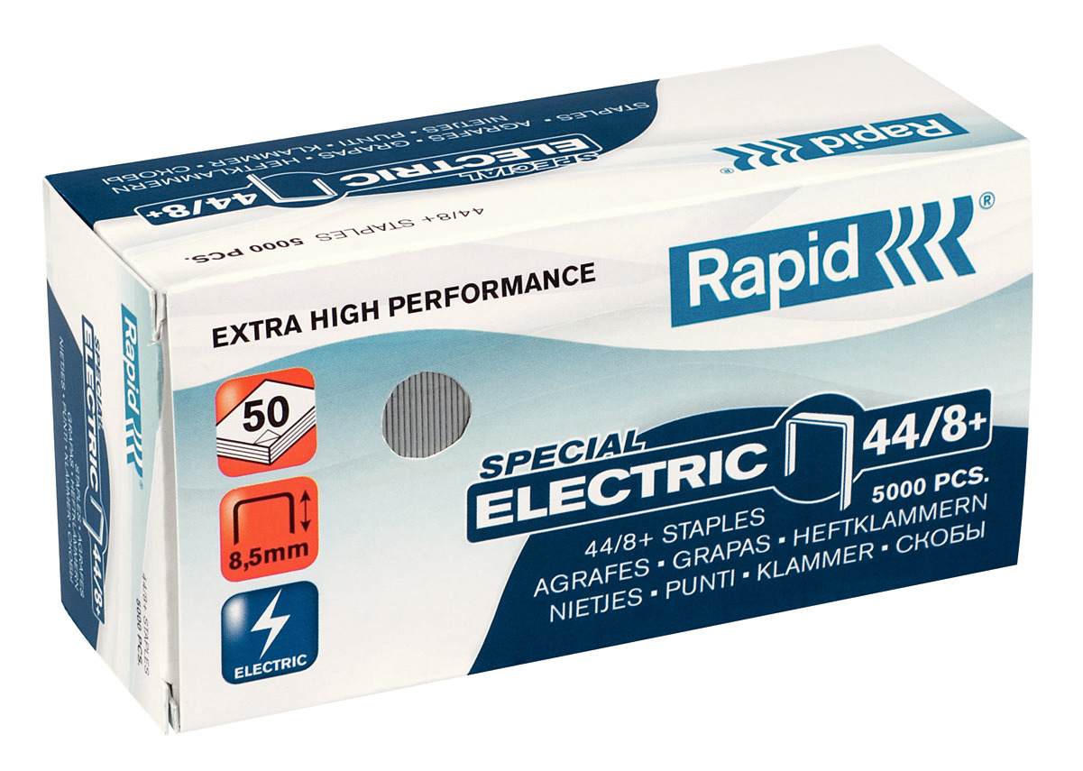 Rapid Super Strong Heftklammern 44/8+ Electric 5.000 Stück, verzinkt