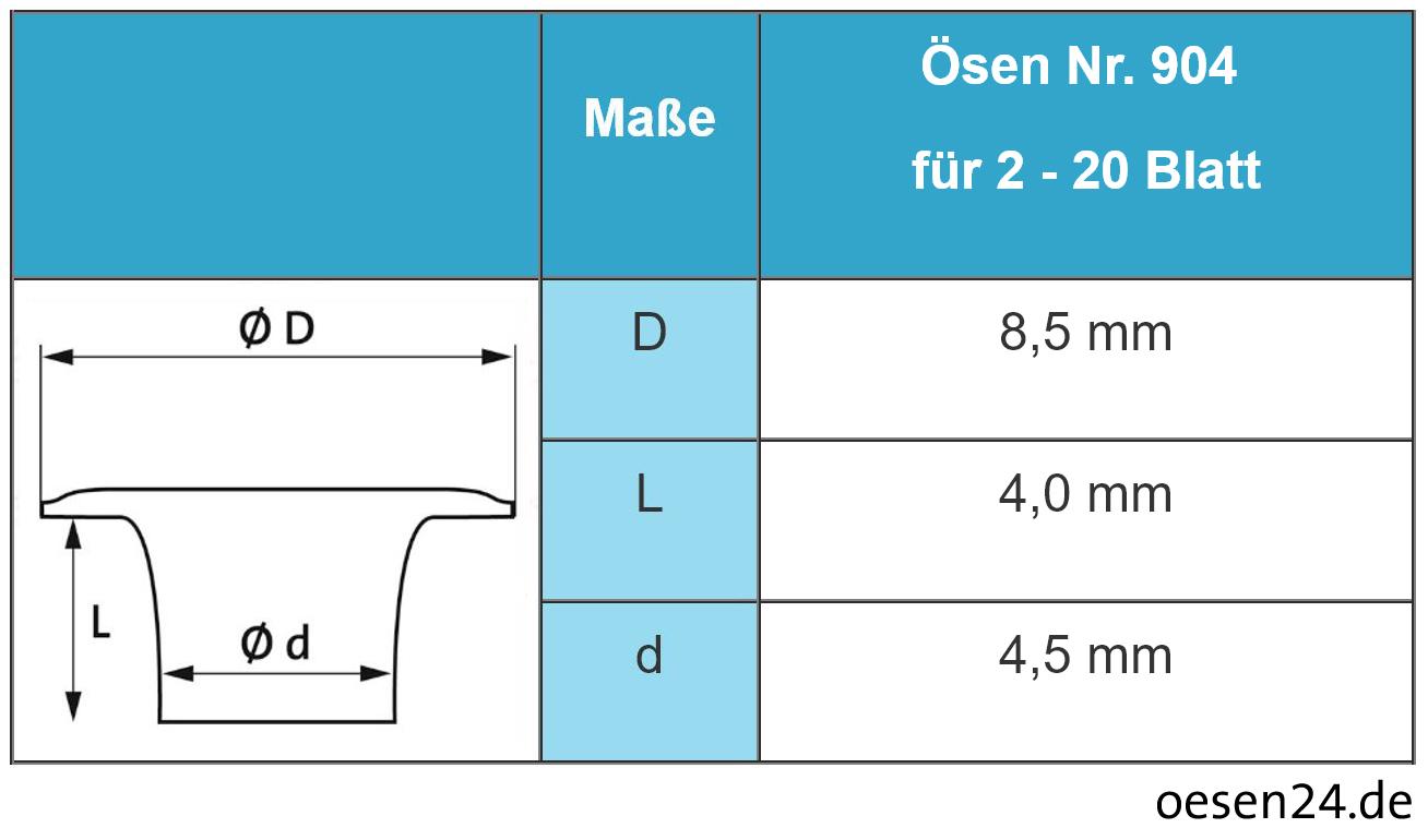 Hang Ösmaschine Piccolo IV 102-00 für Kunststoff-Ösen Nr. 904 – Bild 2