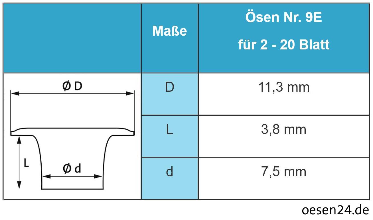 Hang Doppel-Ösmaschine Piccolo IV 102-15 für Ösen Nr. 9E – Bild 2
