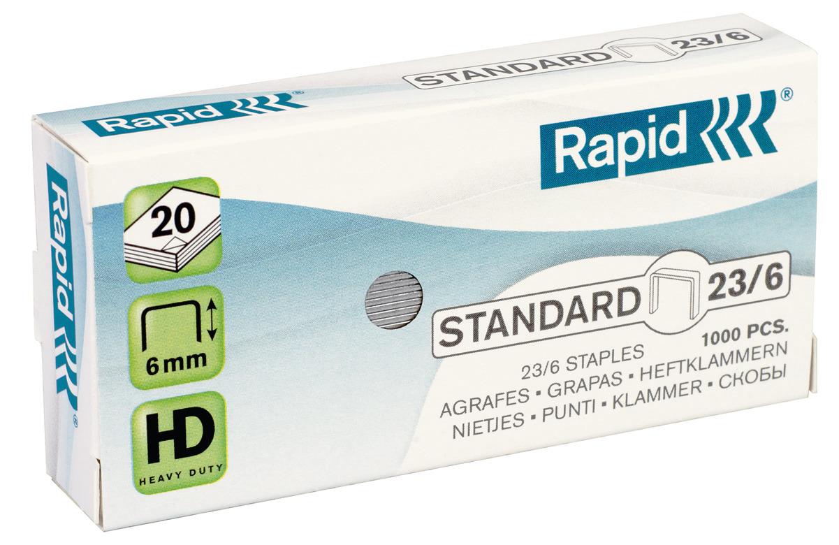Rapid Standard Heftklammern 23/6, 24869100, 1.000 Stück