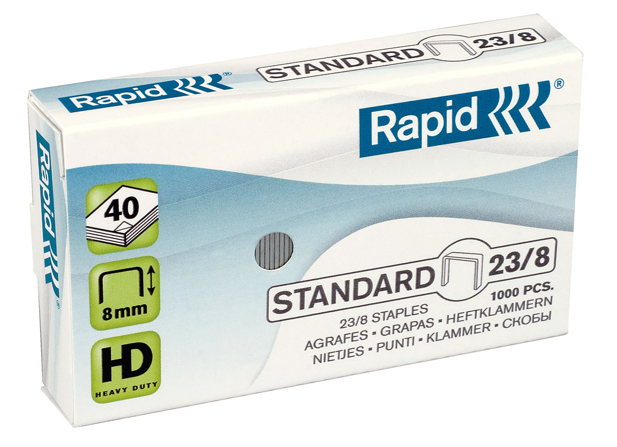 Rapid Standard Heftklammern 23/8, 24869200, 1.000 Stück