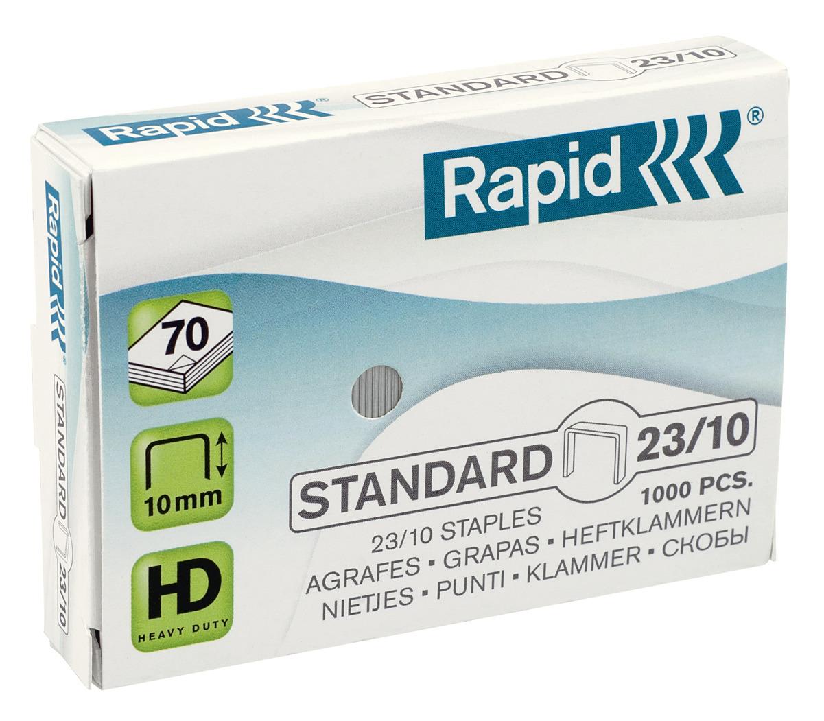 Rapid Standard Heftklammern 23/10, 24869300, 1.000 Stück