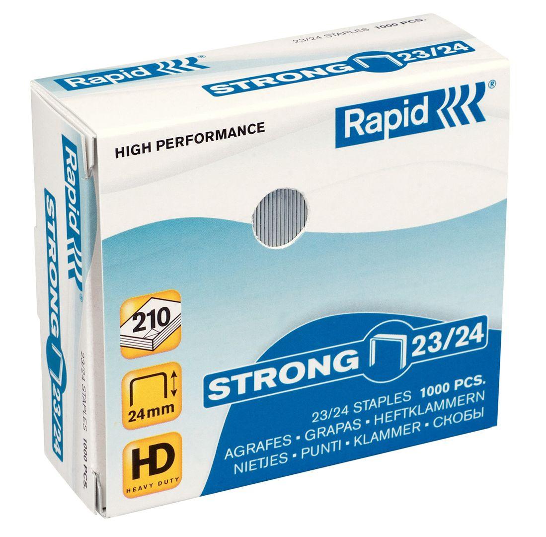 Rapid STRONG Heftklammern 23/24, 24870500, 1.000 Stück
