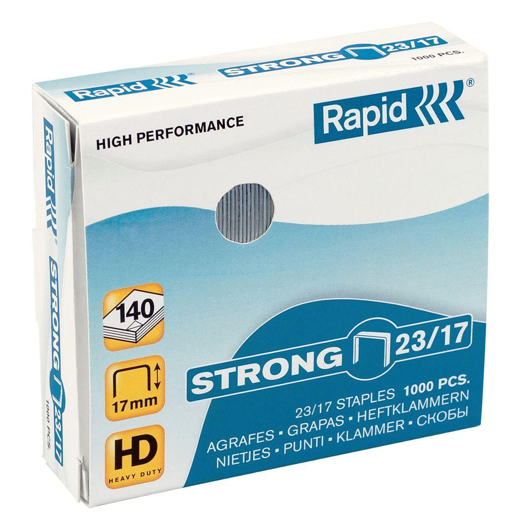 Rapid STRONG Heftklammern 23/17, 24870300, 1.000 Stück
