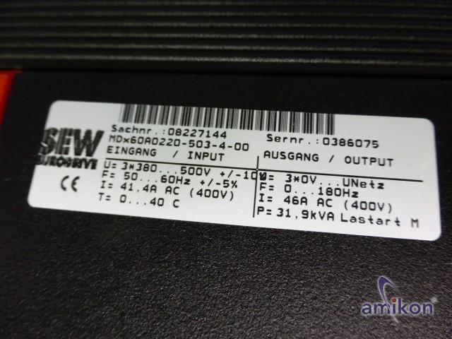 SEW Eurodrive Frequenzumrichter MDX60A0220-503-4-00 + MDX61B0220-503-4-0T  Hover