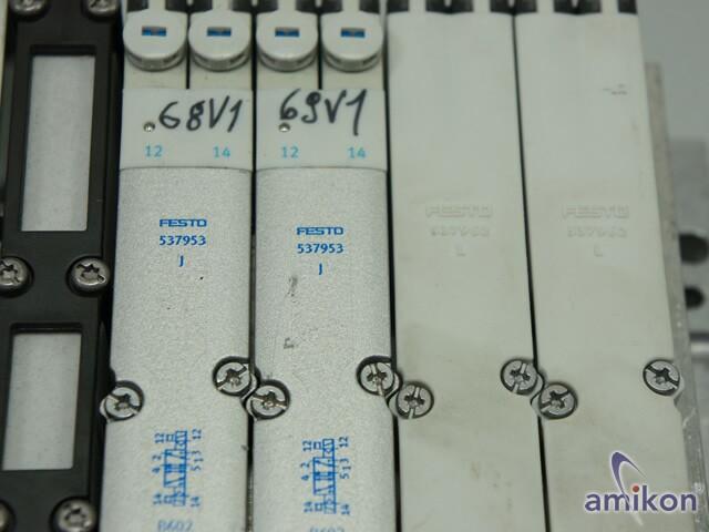 Festo Ventilinsel mit Busknoten 195704 2x Elektronikmodul 537984  Hover