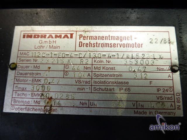 Indramat Permanentmagnet-Drehstromservomotor 112C-1-ED-4C/130-A-1/WI5221X  Hover