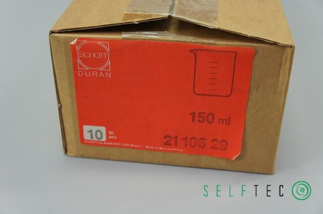 SCHOTT DURAN Becherglas 150ml Laborglas 10 Stk. 2110629 – Bild 2