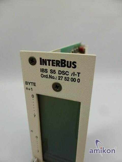 Siemens S5 Phoenix Contact Interbus IBS S5 DSC / I-T 27 52 00 0  Hover