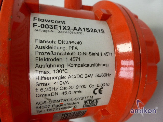 ACS-CONTROL-SYSTEM Durchflussmesser Flowcont F-003E1X2-AA1S2A1S  Hover