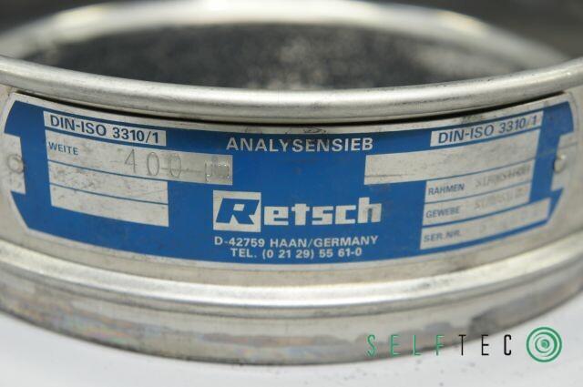Retsch Analysensieb Prüfsieb 400 µm Maschenweite Durchmesser 20cm – Bild 3