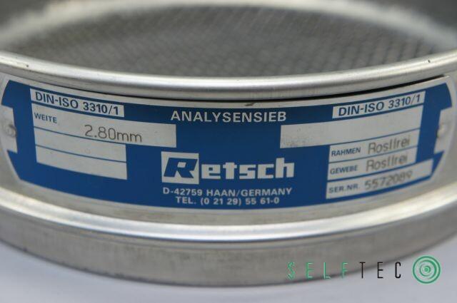 Retsch Analysensieb Prüfsieb 2800 µm 2.8 mm Maschenweite Durchmesser 20cm – Bild 3