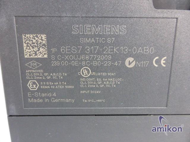 Siemens Simatic S7 CPU Zentralbaugruppe 6ES7317-2EK13-0AB0 6ES7 317-2EK13-0AB0  Hover