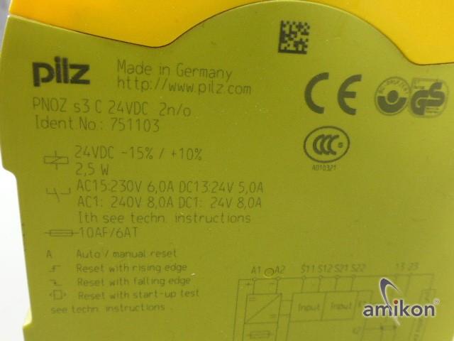 Pilz Not-Aus-Schaltgerät PNOZ s3 C 24VDC 2 n/o 751103  Hover