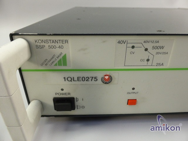 Gossen Metrawatt Programmierbare Stromversorgung 500 W 40 V 12,5 A  Hover