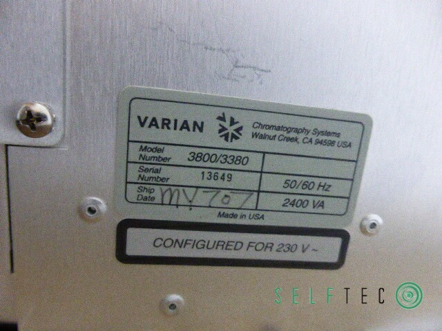 VARIAN Gas Chromatograph CP-3800 3800/3380 Ion Trap Mass Spectrometer 4000MS #2 – Bild 7