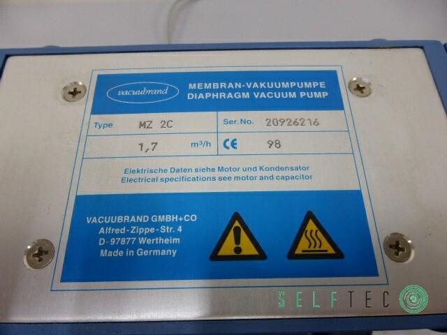 Vacuubrand Membran-Vakuumpumpe MZ 2C 1,7m³/h – Bild 4