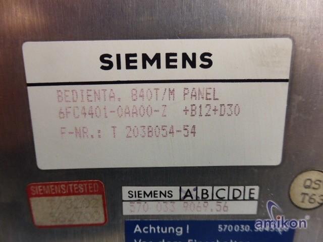 Siemens Sinumerik 840 Bedientafel Einzelkomponenten 6FC4401-0AA00-Z +B12 +D30  Hover