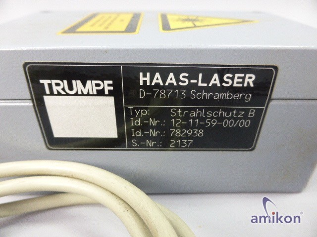 Haas Laser Strahlschutz B Id.Nr.: 12-11-59-00/00 id.-Nr.: 782938  Hover