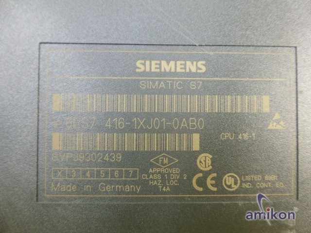 Siemens Simatic S7 Zentralbaugruppe CPU 416-1 6ES7416-1XJ01-0AB0 E-Stand:2  Hover