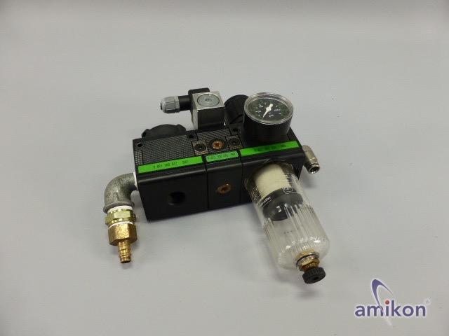 Rexroth Druckluft-Wartungseinheit mit Manometer 0821300 911 0821300 930 0821350