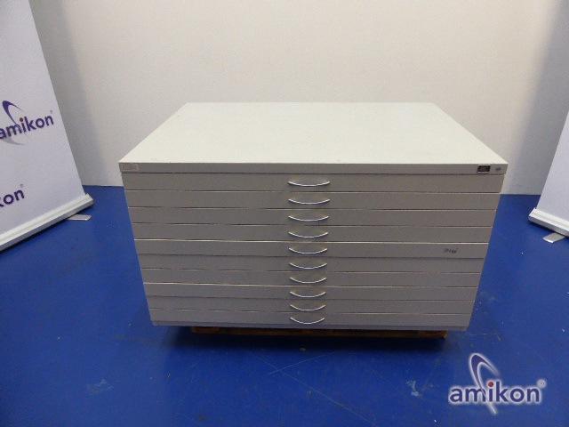 CP-Möbel Planschrank 10 Schübe 135x76x96 cm,lichtgrau (ohne Schlüssel) 7201-000