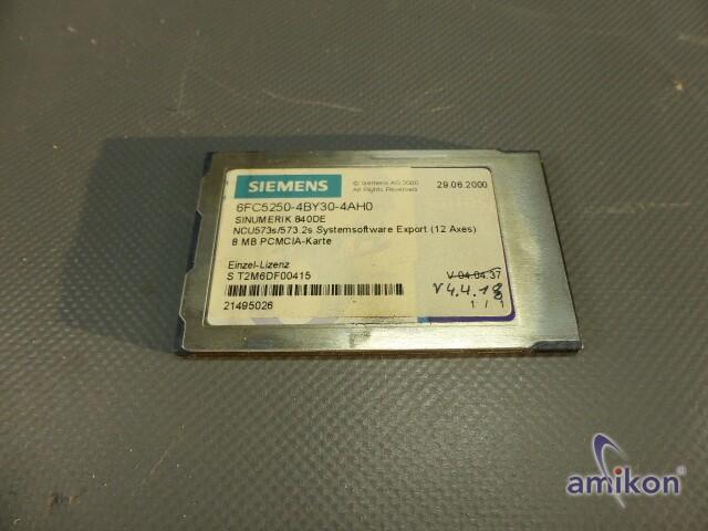 Siemens Sinumerik 840DE SYSTEMSOFTW. 6FC5250-4BY30-4AH0 Version 04.04.18