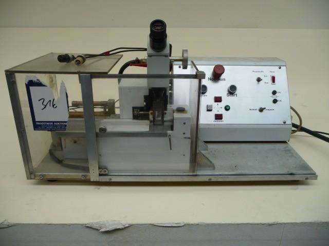 Platinensäge elektrisch pneumatisch mit Lupe (Mikroskop