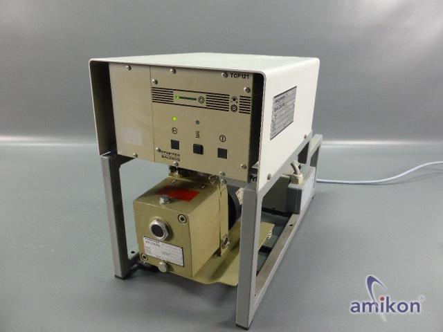 Pfeiffer Antriebselektronik TCP 121 u. Drehschieberpumpe  Duo 1.5A mit TPU-060