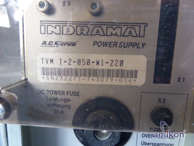Indramat A.C. Servo Power Supply TVM 1.2-050-W1-220  Hover