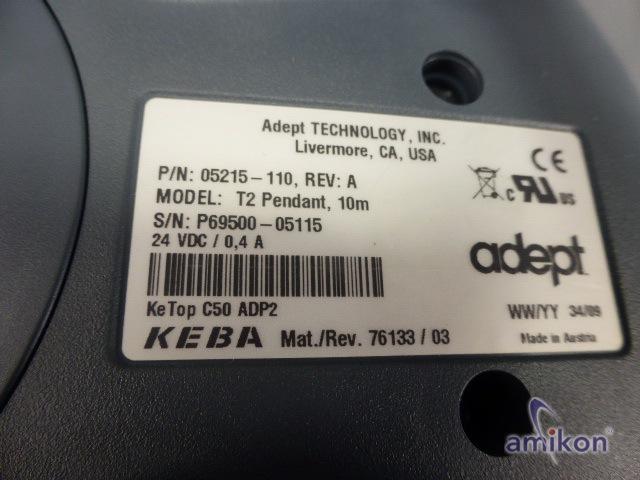 adept KEBA T2 Teach Pendant 10m KeTop C50 ADP2  Hover