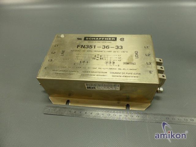 Schaffner EMI Line Filter  FN351-36/33 FN 351-36-33
