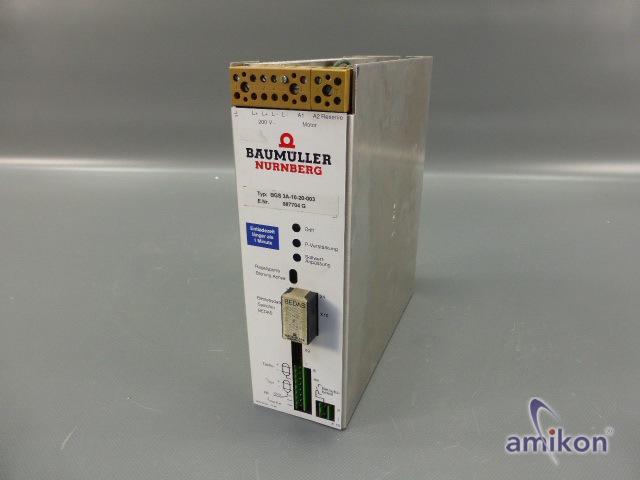Baumüller Servoregler BGS 3A-10-20-003 887704 G