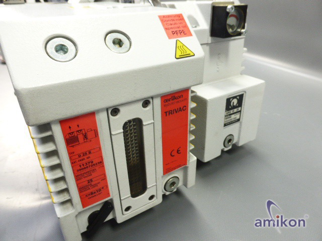 Leybold Trivac Ölgedichtete Vakuumpumpe D 25 B - Auspuff-Filter  Hover