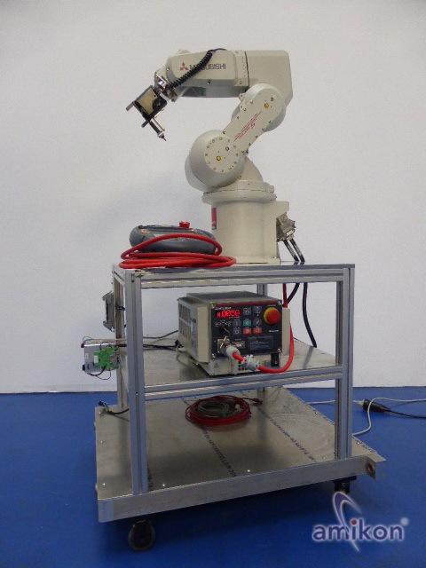 Mitsubishi Industrie 6-Achsen-Knickarm-Roboter RV-3SB-S15 mit Steuerung u. R46TB