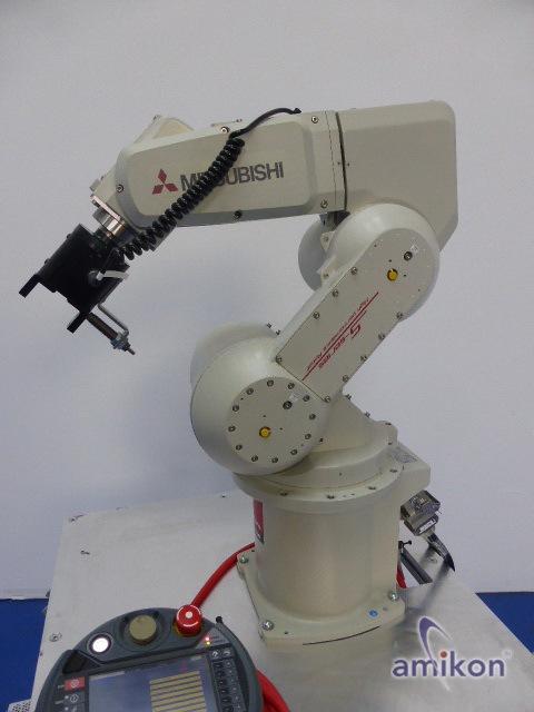 Mitsubishi Industrie 6-Achsen-Knickarm-Roboter RV-3SB-S15 mit Steuerung u. R46TB  Hover