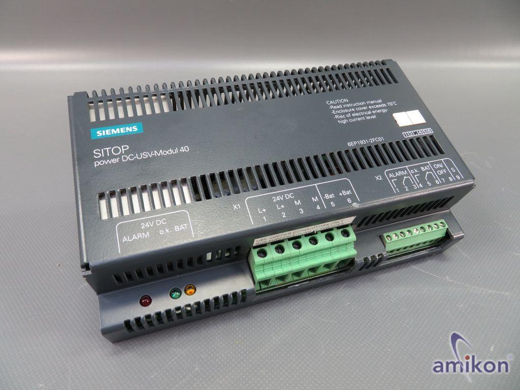 Siemens Sitop Power Stromversorgung DC-USV-Modul 40  6EP1931-2FC01