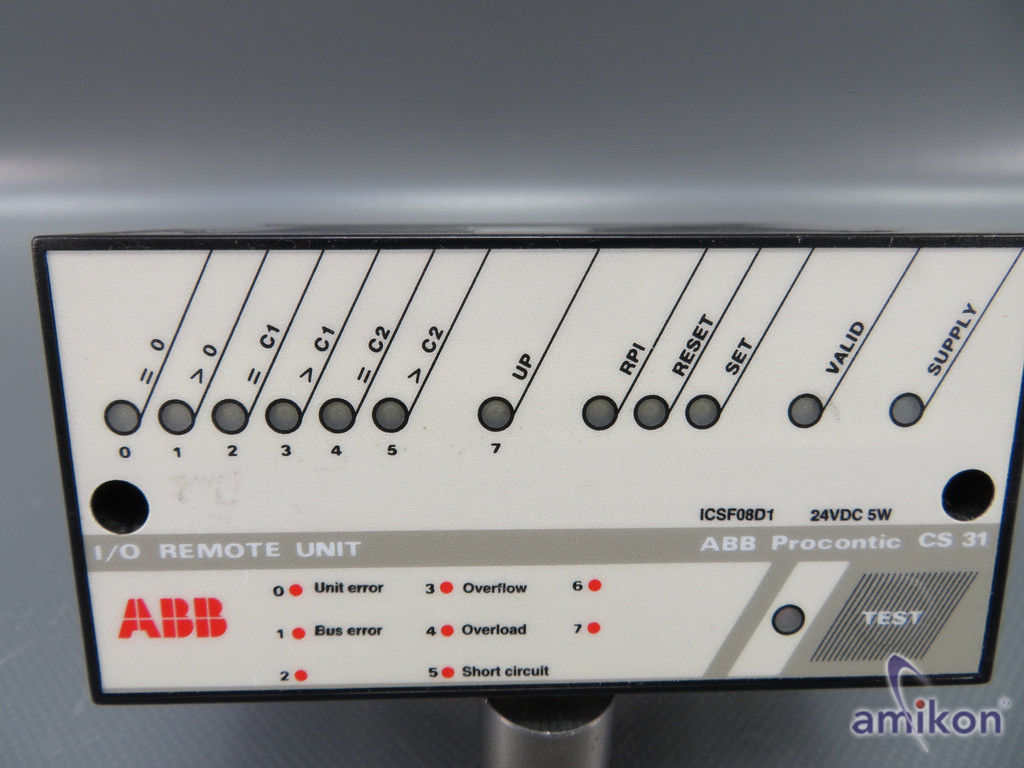 ABB Procontic CS31 ICSF08D1Analog I/O Remote Unit 24VDC  Hover