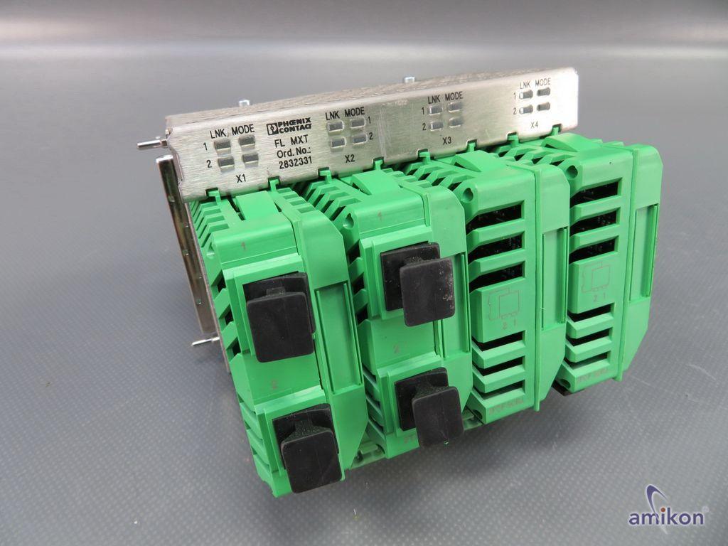Phoenix Contact Erweiterungsmodul FL MXT mit 4x Medienmodul FL IF 2TX VS-RJ-F