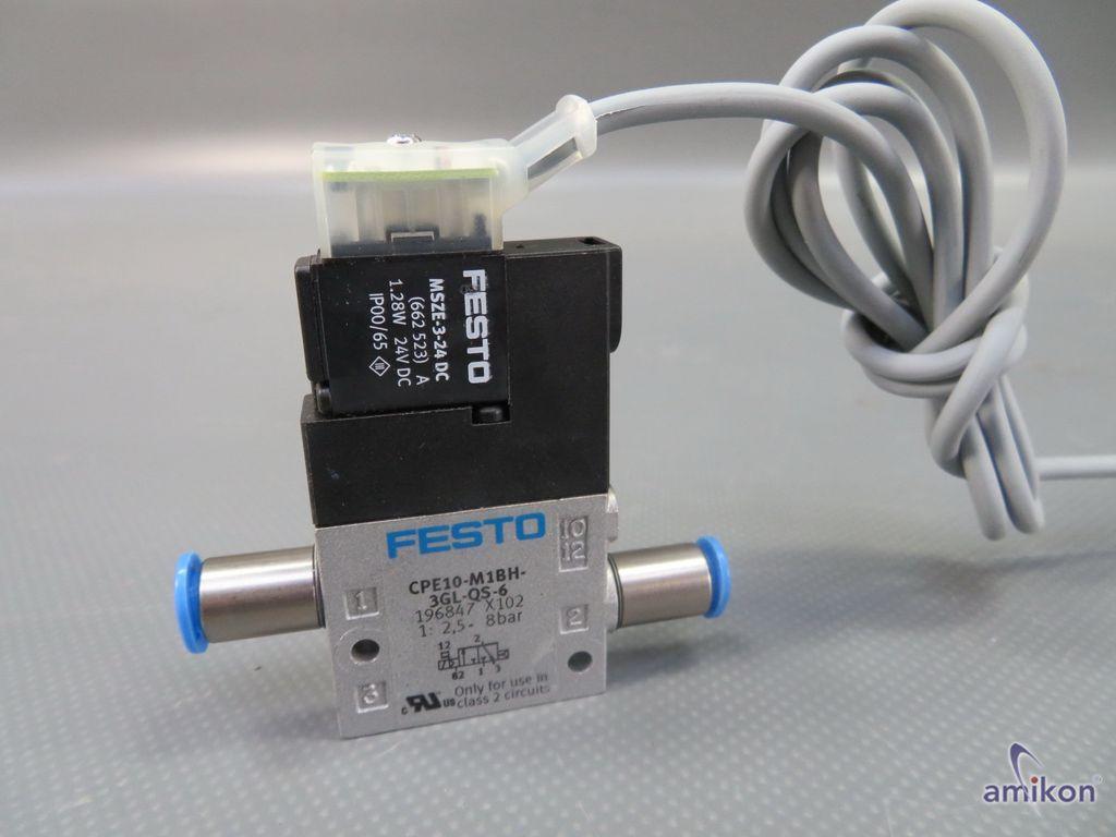 Festo Magnetventil CPE10-M1BH-3GL-QS-6 196847