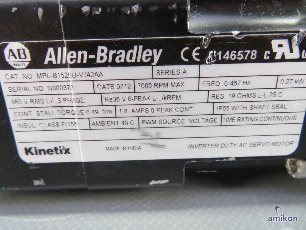 Allen-Bradley Servo Motor MPL-B1520U-VJ42AA mit Alpha Getriebe SP 060S-MF1-10  Hover
