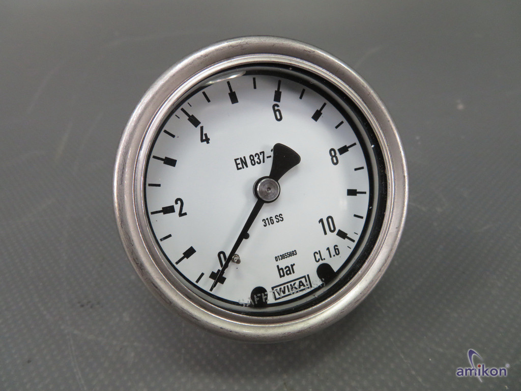 Wika 316 SS G1/4 Manometer 6 bar Hydraulik Uhr CL 1.6