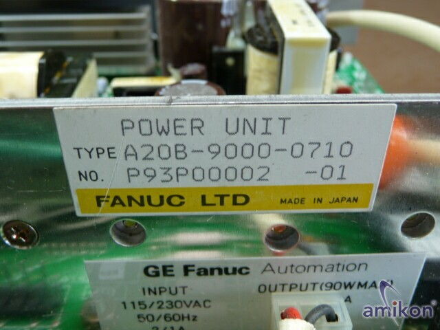 Fanuc Stromversorgung POWER SUPPLY A20B-9000-0710  Hover