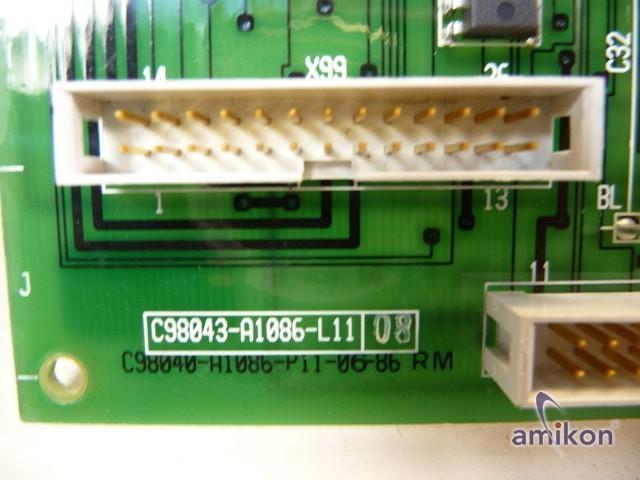 Siemens Simoreg Steuerplatine C98043-A1086-L11-08  Hover