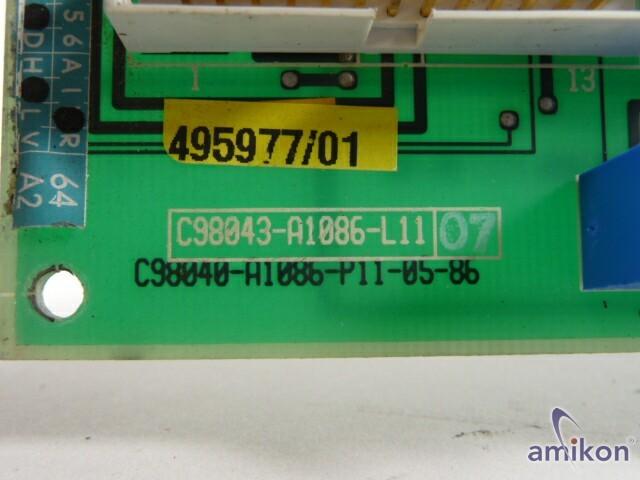 Siemens Simoreg FBG Hauptspindelregler C98043-A1086-L11  Hover