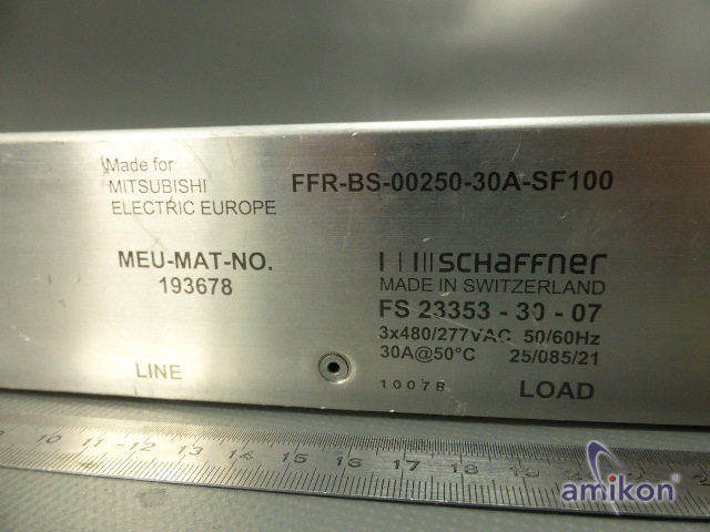 Mitsubishi Schaffner Netzfilter FFR-BS-00250-30A-SF100 FS 23353-30-07  Hover